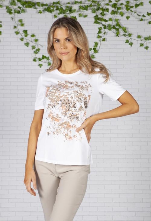 Brax Abstract Print White T-Shirt