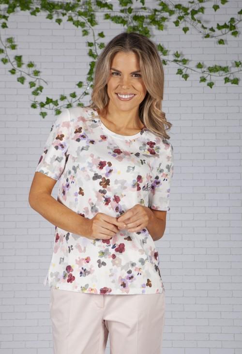 Brax Abstract Floral Print T-Shirt