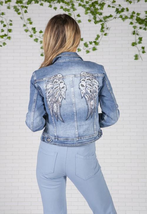 Pamela Scott Angel Wings Denim Jacket