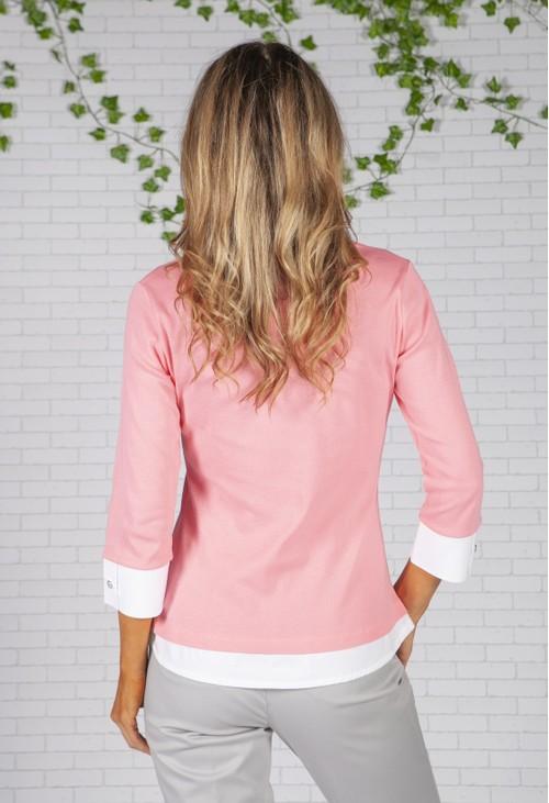 Twist Bright Pink Shirt Detailed Top