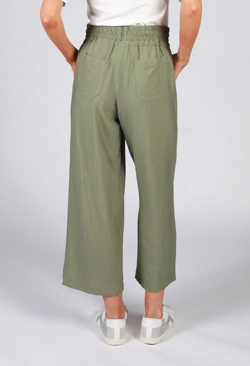 Twist Khaki Drawstring Trousers
