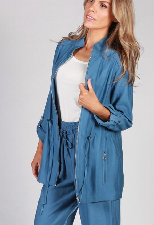 Twist Denim Blue Draw String Jacket