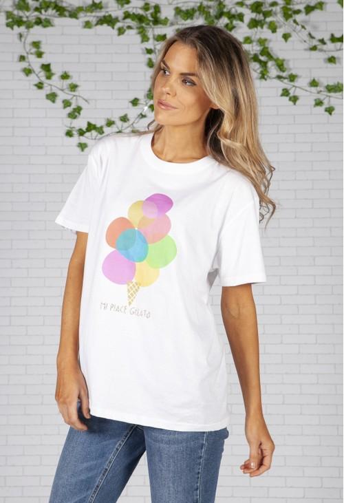 Pamela Scott Gelato White T-Shirt