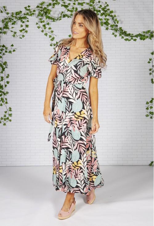 Pamela Scott Tropical Wrap Dress