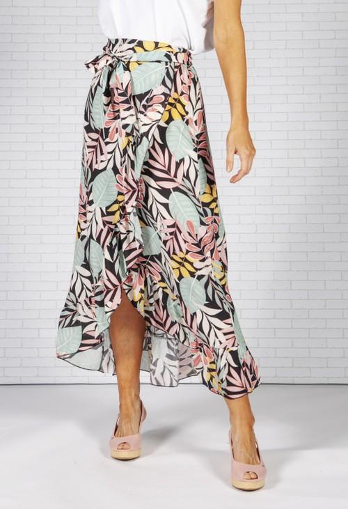 Pamela Scott Tropical Print Skirt
