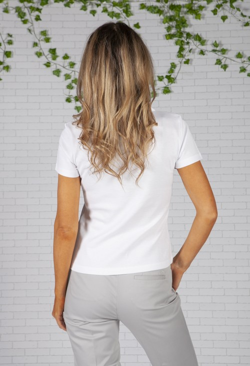 Twist White Pleated Shoulder Top
