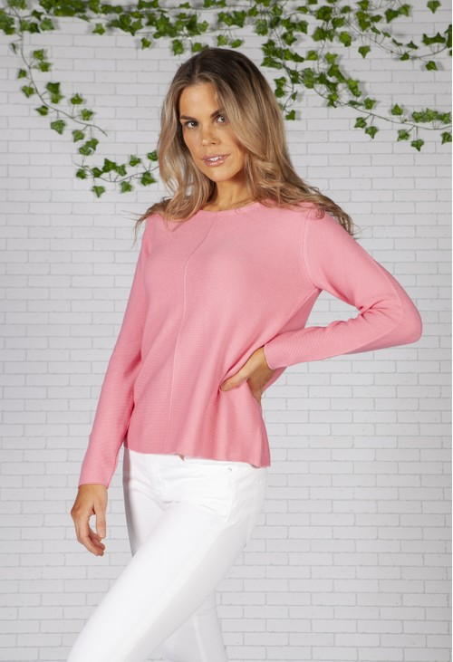 Twist Pink Fine Ribbed Knit