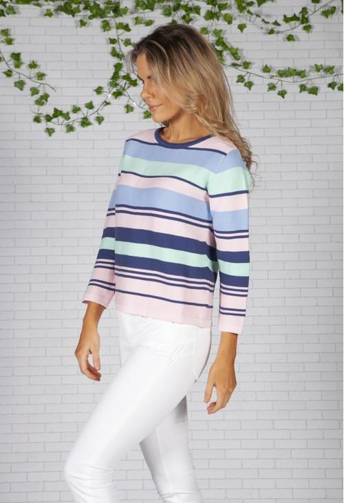 Twist Pastel Striped Knit