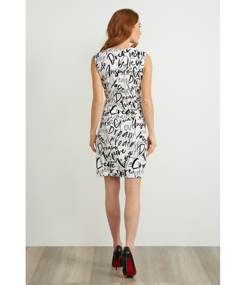 Joseph Ribkoff Graffiti Print Sleeveless Dress