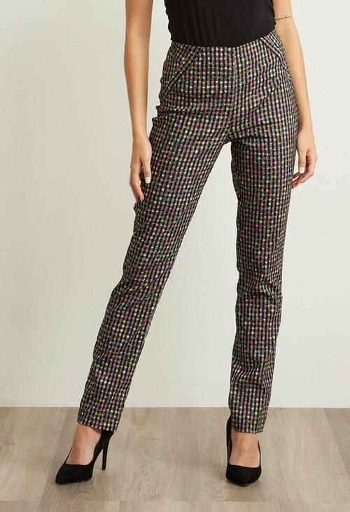 Joseph Ribkoff Multi-colour Checkered Pants