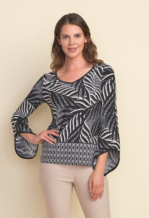 Joseph Ribkoff Palm Print Top