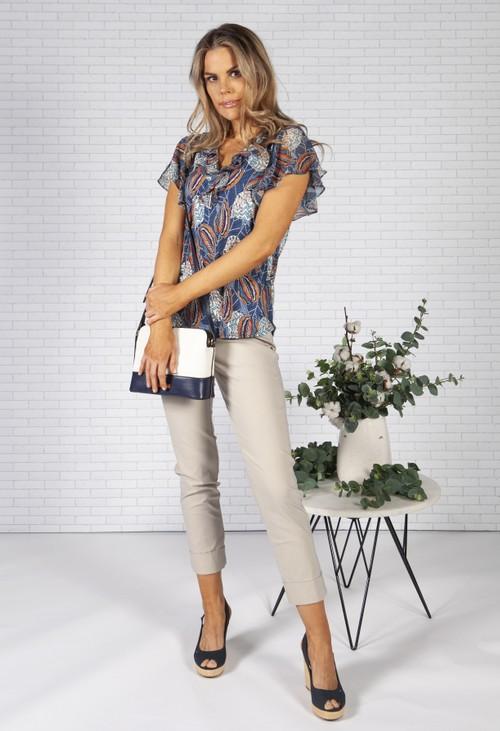 Sophie B Coca Design V-Front Top