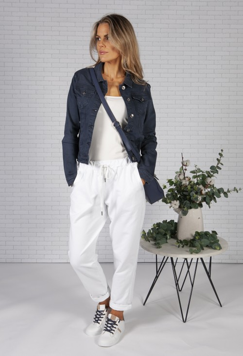 Pamela Scott Navy Denim Jacket