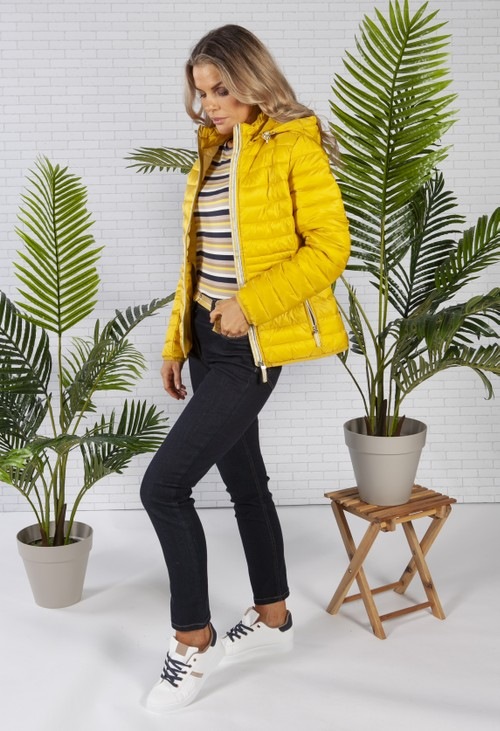 Betty Barclay Yellow Quilted Coat