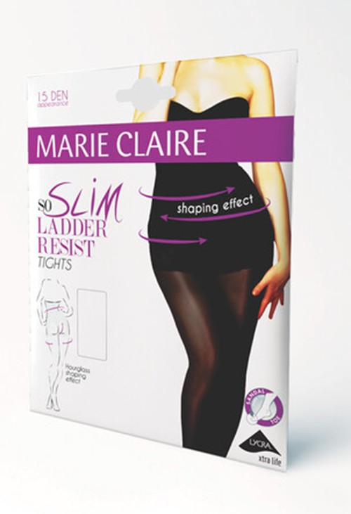 Marie Claire So Slim Body Shaping Tights in Black