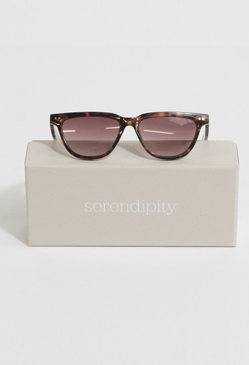 Serendipity Classic Skinny Black & Brown Sunglasses