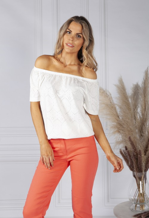 Bianca Off the Shoulder White Top