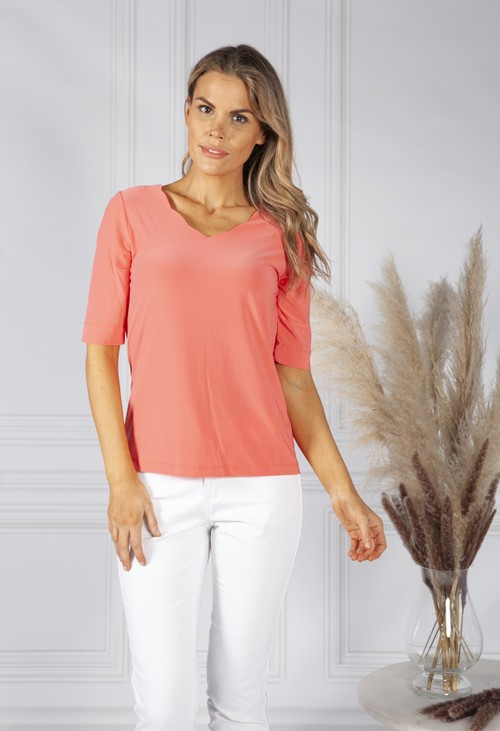 Bianca Scalloped Neckline Top