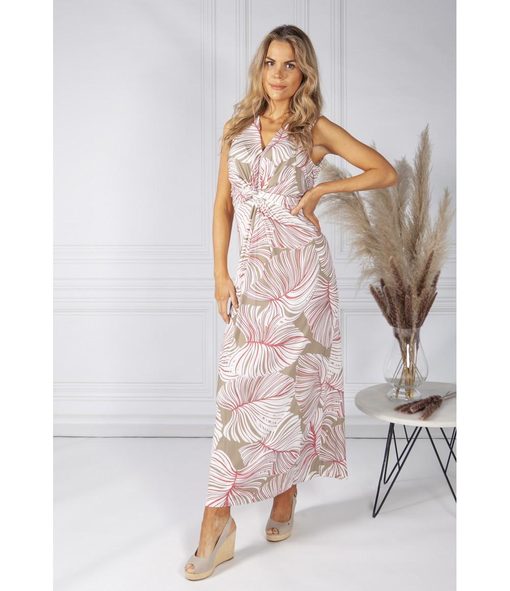 Bianca Tropical Leaf Print Dress