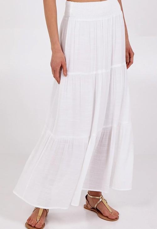Pamela Scott White Boho Style Skirt