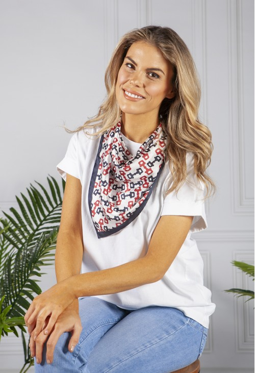 PS Accessories square scarf in a nautical print