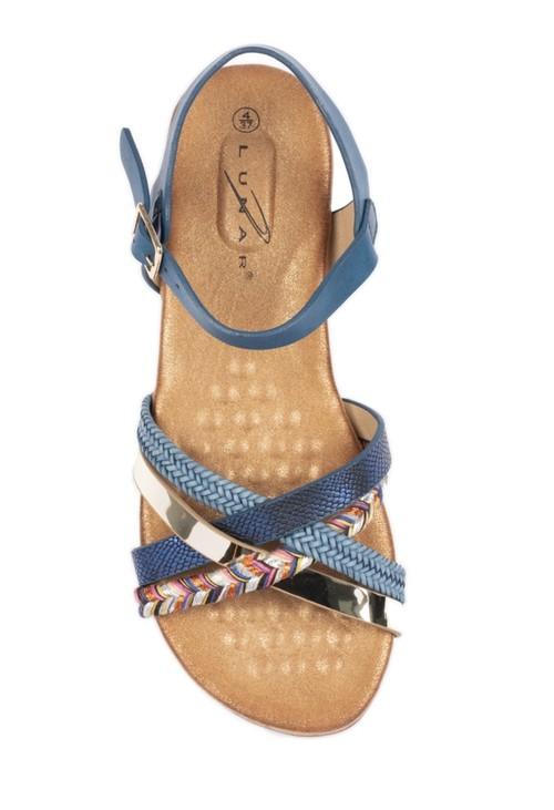 Lunar Louisa Multi Cross Strap Sandal