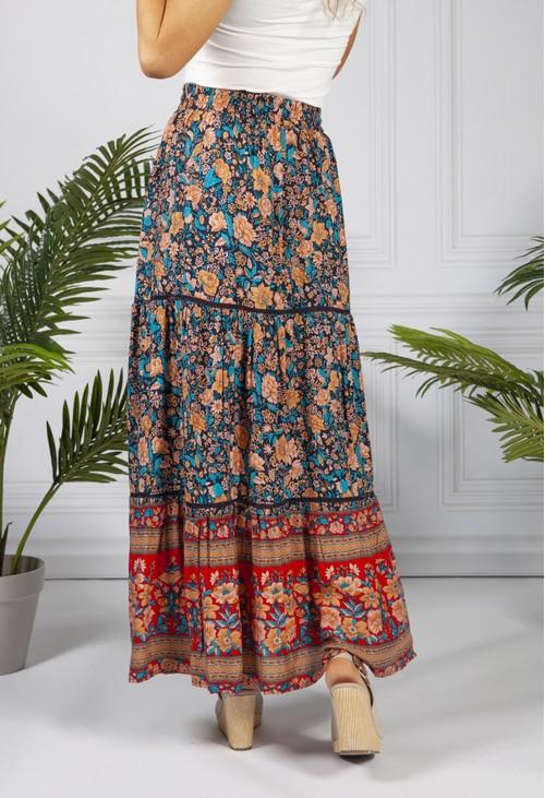 Pamela Scott Vintage Floral Print Skirt