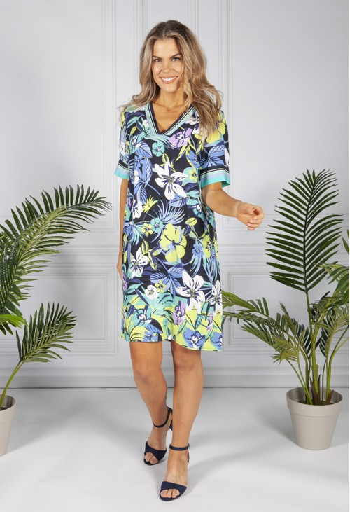 Betty Barclay Tropical Flower Print Dress