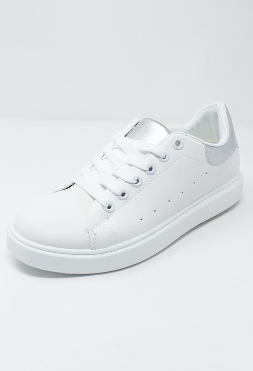Shoe Lounge White and Silver Trainer
