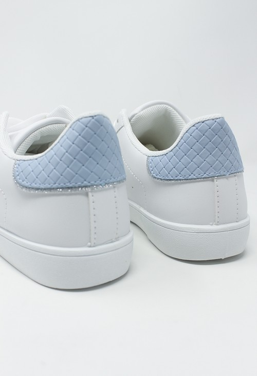 Shoe Lounge White and Blue Trainer