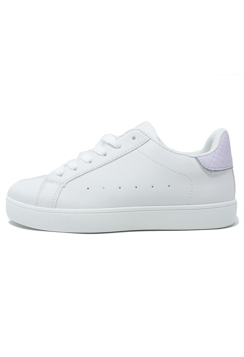 Shoe Lounge White and Lavender Trainer