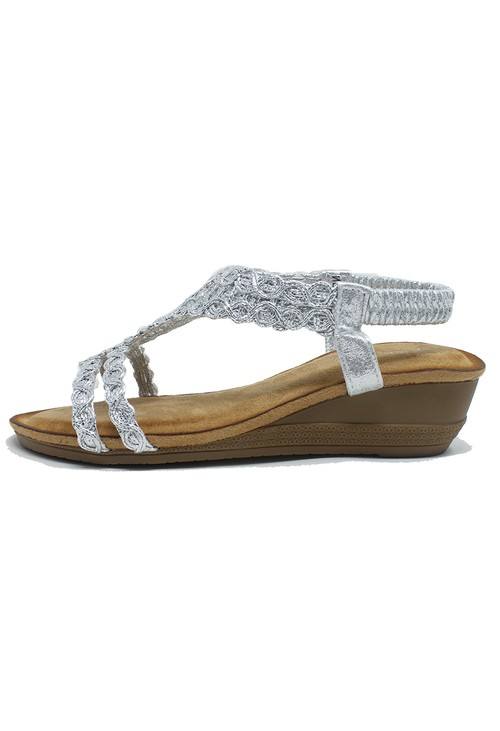 Shoe Lounge Silver Wedge Sandal