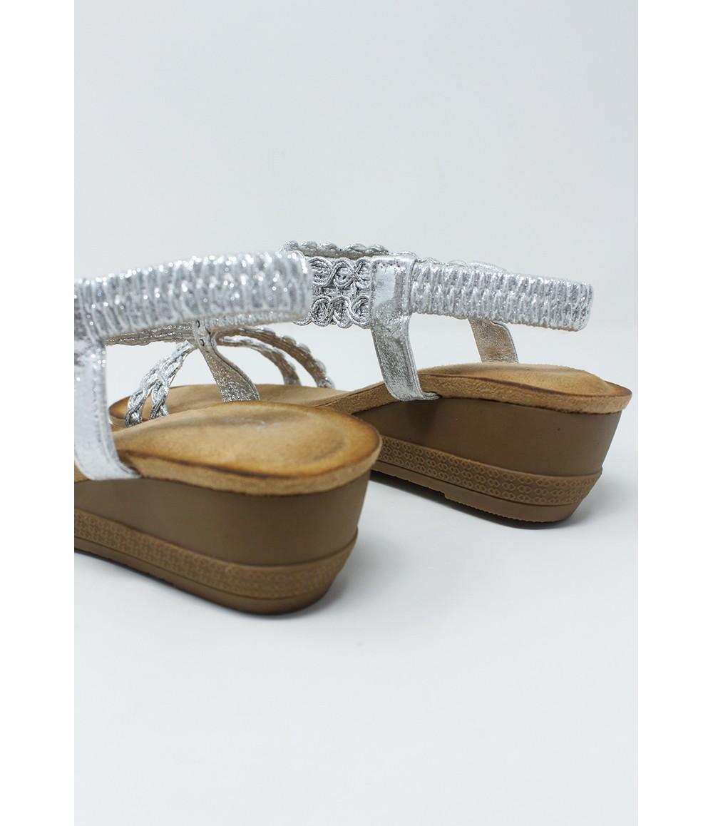Shoe Lounge Silver Wedge Sandal