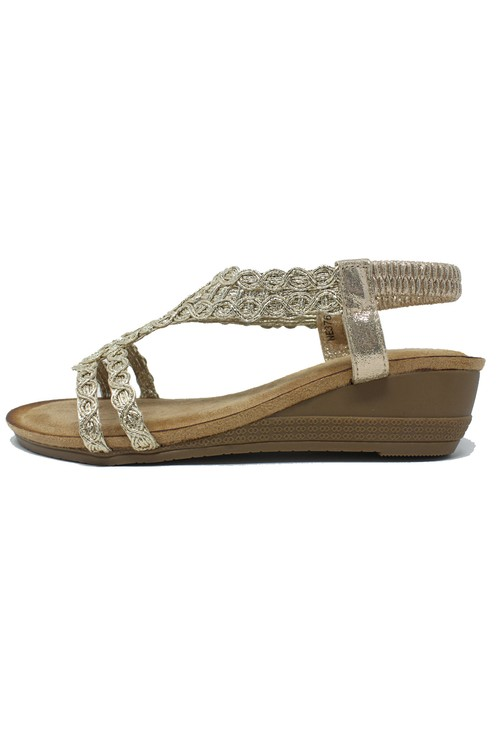 Shoe Lounge Gold Wedge Sandal