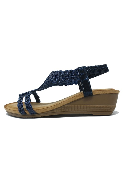 Shoe Lounge Blue Wedge Sandal