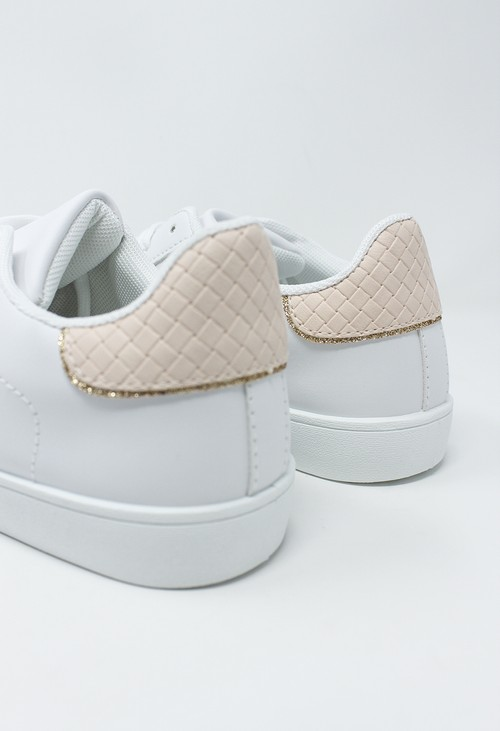 Shoe Lounge White and Pink Trainer