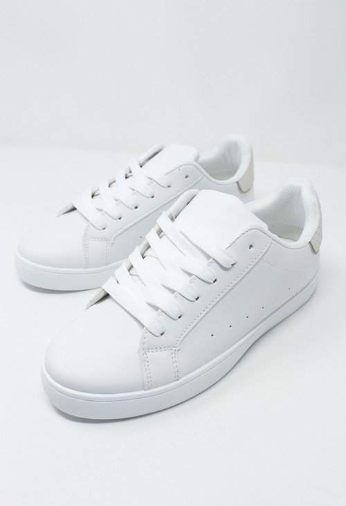 Shoe Lounge White and Beige Trainer