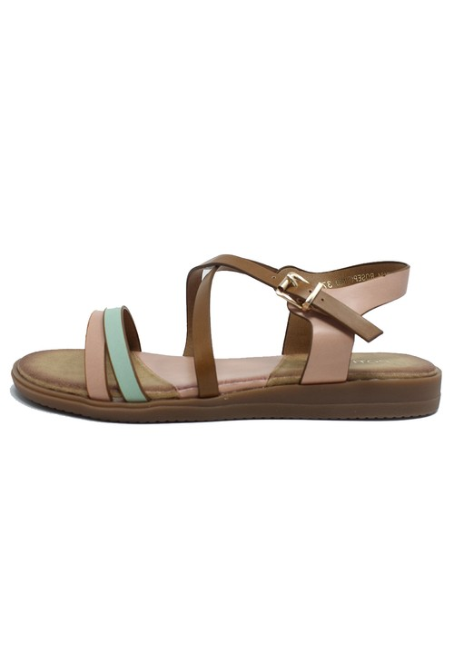 Shoe Lounge Rose Flat Cross-over Sandal