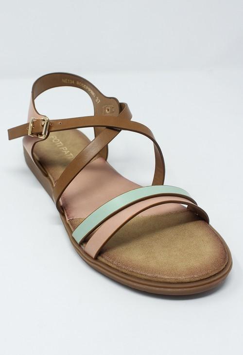 Shoe Lounge Rose Flat Cross-over Sandal