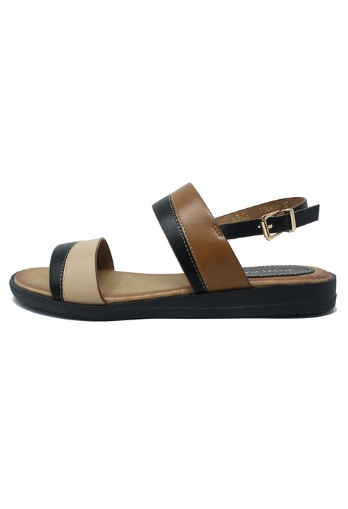 Shoe Lounge Black Flat Sling-back Sandal