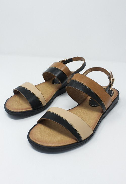 Shoe Lounge Black Flat Sling-back Sandal