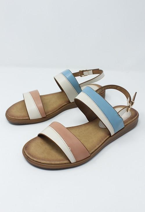 Shoe Lounge Beige Flat Sling-back Sandal