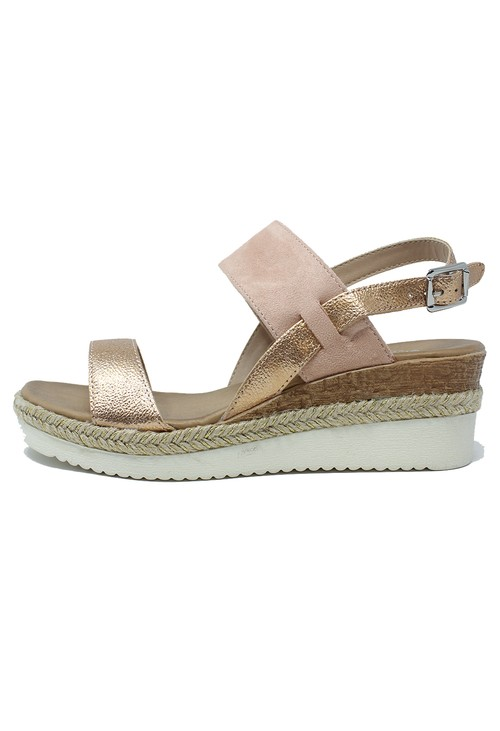 Shoe Lounge Pink Mid Wedge Strap Sandal