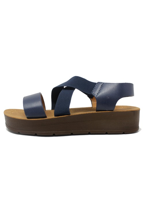 Shoe Lounge Blue Cross-strap Sandal
