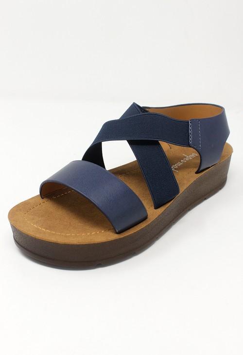 Shoe Lounge Blue Cross-strap Sandal