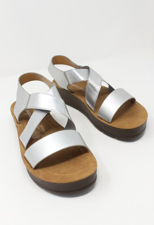 Shoe Lounge Silver Cross-strap Sandal