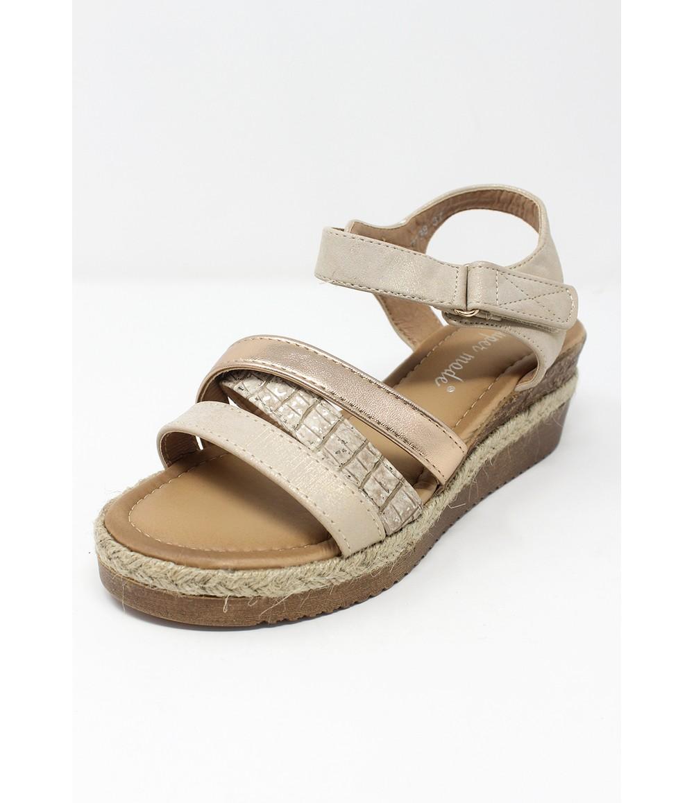 Shoe Lounge Beige Velcro Fastened Sandal