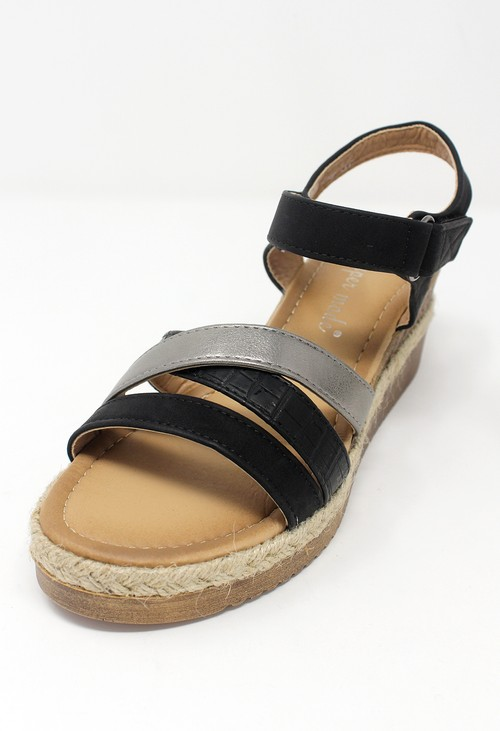 Shoe Lounge Black Velcro Fastened Sandal