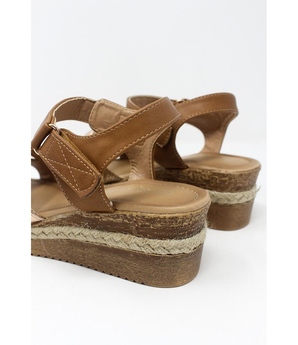 Shoe Lounge Tan Velcro Fastened Sandal