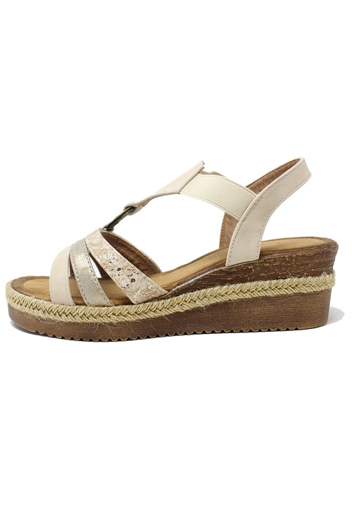 Shoe Lounge Beige Ring Sandal